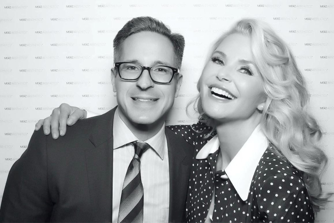 Dr. Diaz with Christie Brinkley