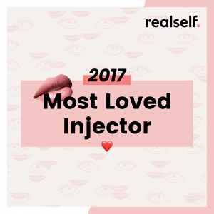 RealSelf most loved injector badge for 2017